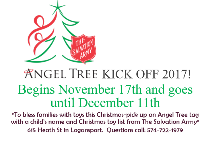 to bless families with toys this christmas pick up an angel tree tag with a childs name and christmas toy list from the salvation army 615 heath st in - Salvation Army Christmas Angel